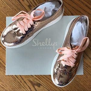Shellys London Dilys Leather Derby Sneaker SZ 6.5